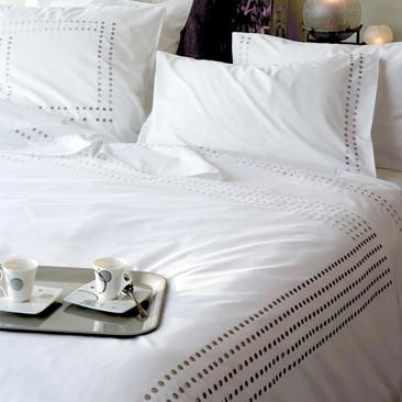 drap housse 160x200cm uni percale blanche par essix la boutique novalinge. Black Bedroom Furniture Sets. Home Design Ideas