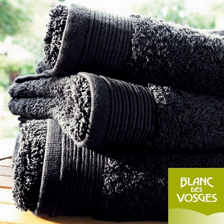 gant de toilette 16x22cm uni anthracite blanc des vosges la boutique novalinge. Black Bedroom Furniture Sets. Home Design Ideas
