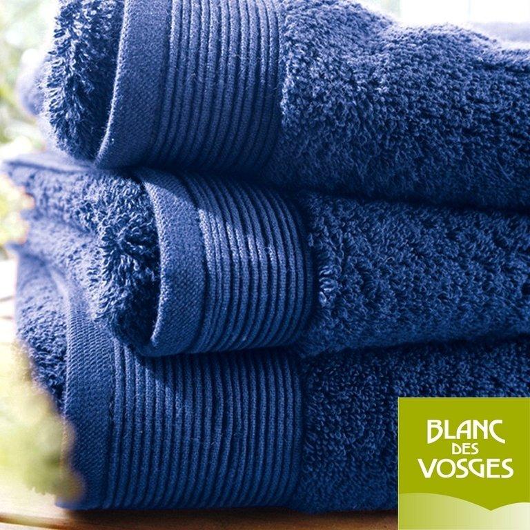 drap de bain 100x150cm uni bleu royal blanc des vosges la boutique novalinge. Black Bedroom Furniture Sets. Home Design Ideas