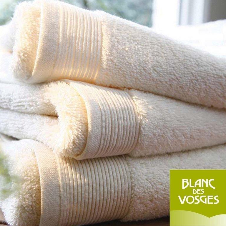 gant de toilette 16x22cm uni ivoire blanc des vosges la boutique novalinge. Black Bedroom Furniture Sets. Home Design Ideas