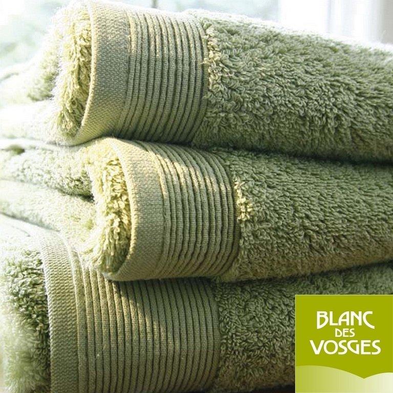 gant de toilette 16x22cm uni lichen blanc des vosges la boutique novalinge. Black Bedroom Furniture Sets. Home Design Ideas