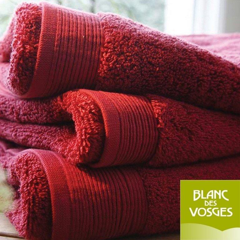 tapis de bain 50x90cm uni piment blanc des vosges la boutique novalinge. Black Bedroom Furniture Sets. Home Design Ideas