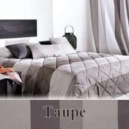 jet de lit 230x250cm bergame taupe et beige 28 par linder la boutique nova linge. Black Bedroom Furniture Sets. Home Design Ideas