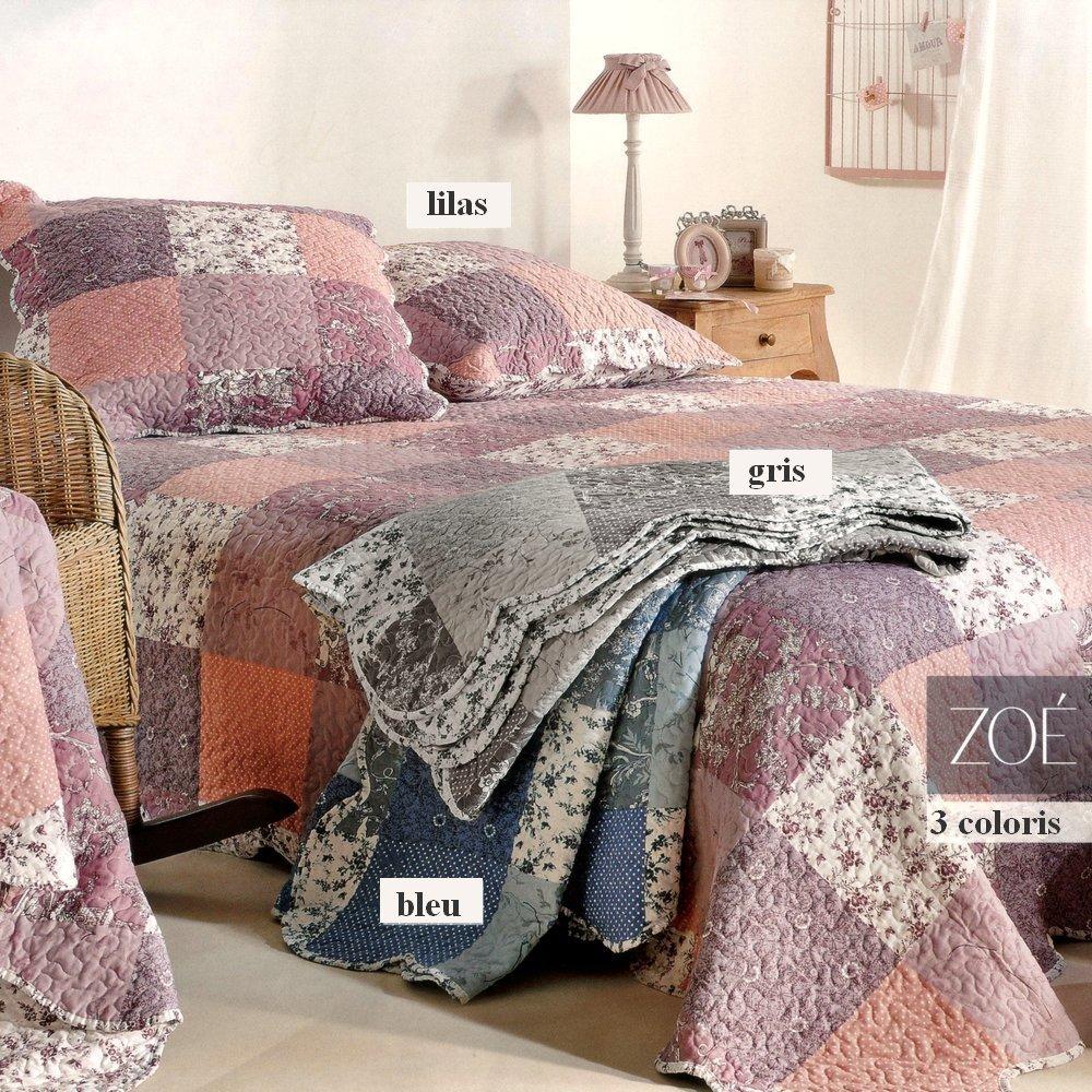 zo bleu 40 par linder jet de lit 230x250cm 2 taies la boutique novalinge. Black Bedroom Furniture Sets. Home Design Ideas