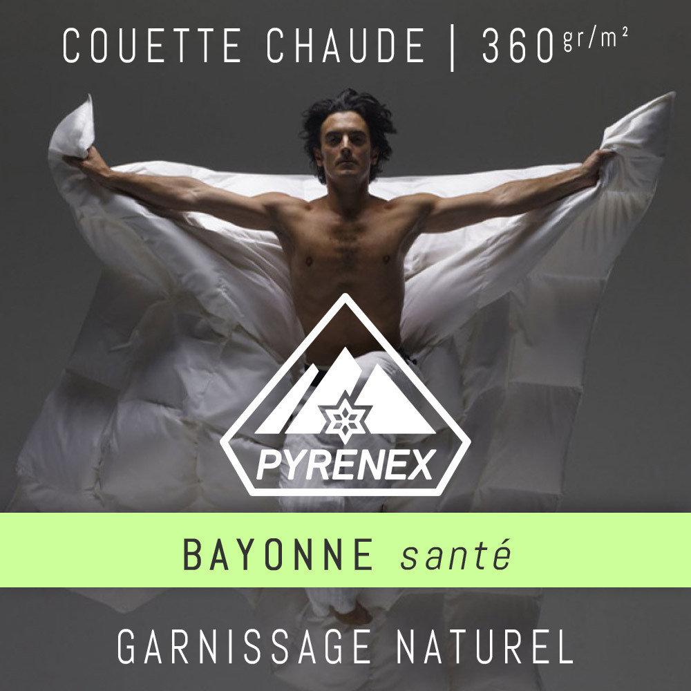 Bayonne Sante 360g M Par Pyrenex Couette Chaude Canard Argente