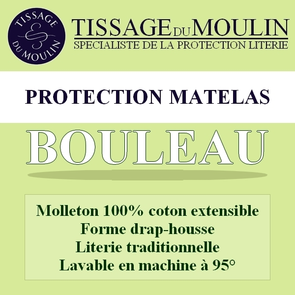 bouleau par tissage du moulin prot ge matelas extensible. Black Bedroom Furniture Sets. Home Design Ideas