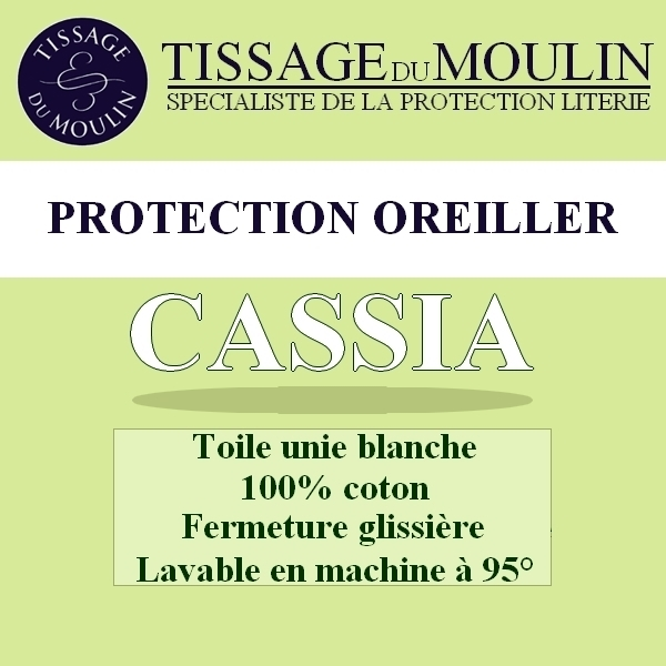 prot ge oreiller 65x65cm cassia par tissage du moulin la boutique novalinge. Black Bedroom Furniture Sets. Home Design Ideas