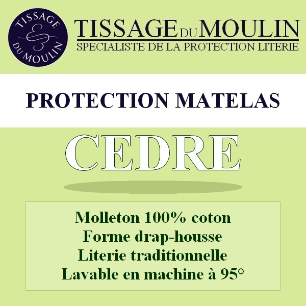 prot ge matelas 140x200cm c dre par tissage du moulin la boutique novalinge. Black Bedroom Furniture Sets. Home Design Ideas