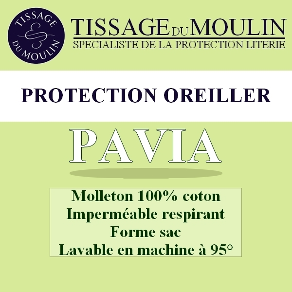 pavia par tissage du moulin prot ge oreiller molleton imperm able la boutique novalinge. Black Bedroom Furniture Sets. Home Design Ideas