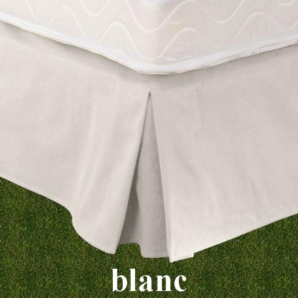 cache sommier 180x200cm teck blanc par tissage du moulin la boutique novalinge. Black Bedroom Furniture Sets. Home Design Ideas