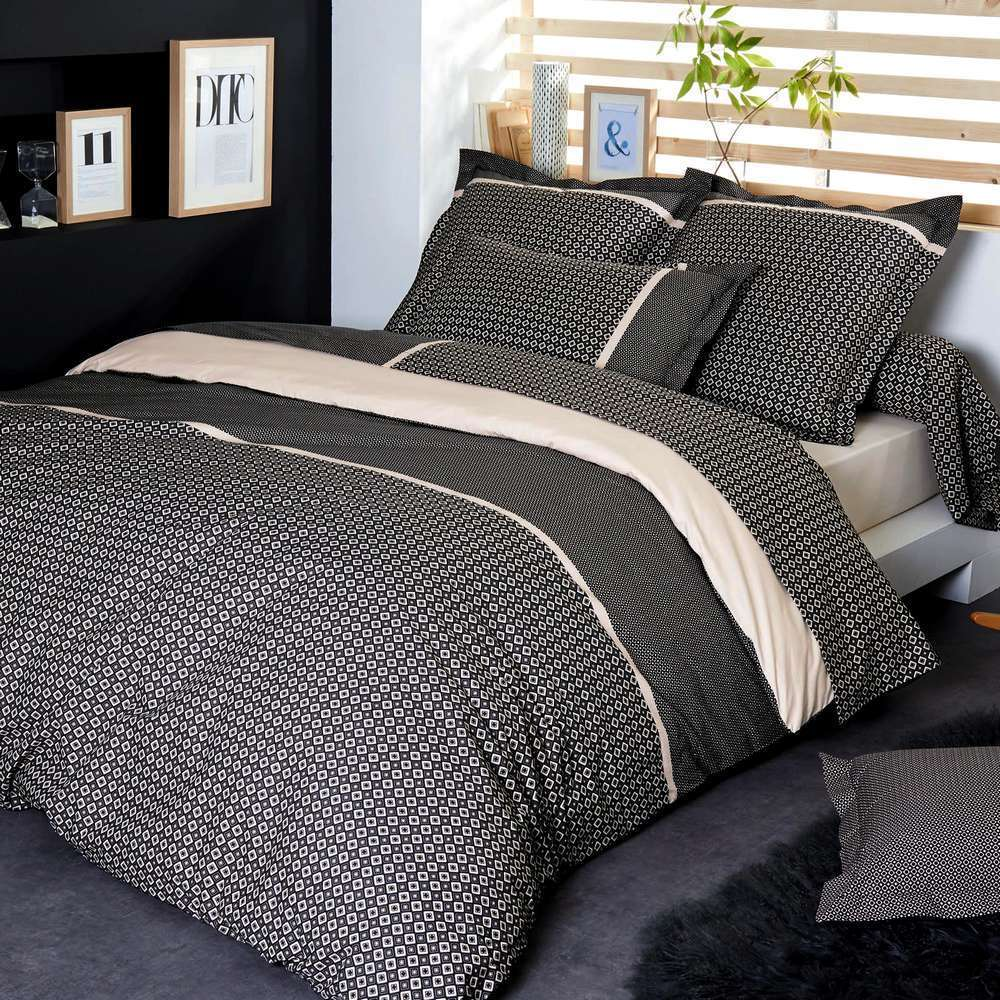 housse de couette 200x200cm gatsby par tradilinge la boutique novalinge. Black Bedroom Furniture Sets. Home Design Ideas