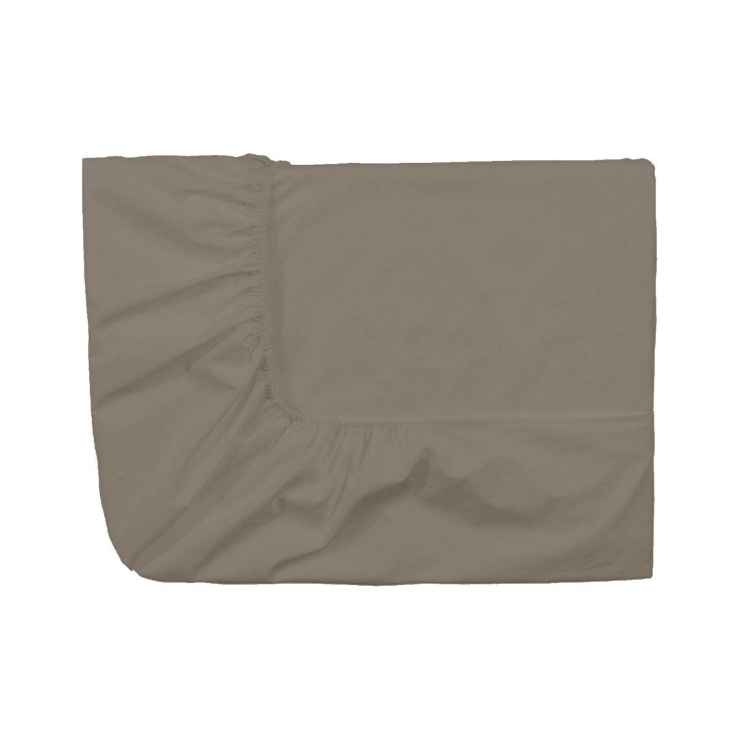 drap housse 90x190cm royal line percale par essix taupe la boutique novalinge. Black Bedroom Furniture Sets. Home Design Ideas