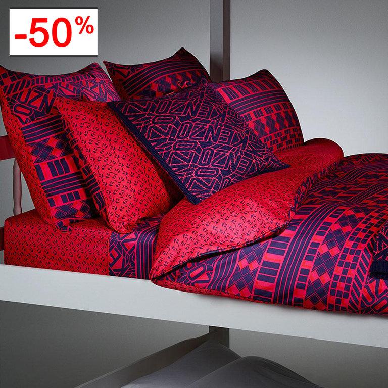 drap housse 160x200cm lacelogo par kenzo maison la boutique novalinge. Black Bedroom Furniture Sets. Home Design Ideas