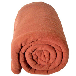 Couverture polaire 180x220cm - Teddy terracotta par TOISON D'OR