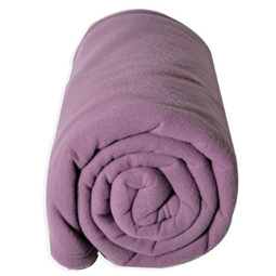 Couverture polaire 180x220cm - Teddy mauve par TOISON D'OR