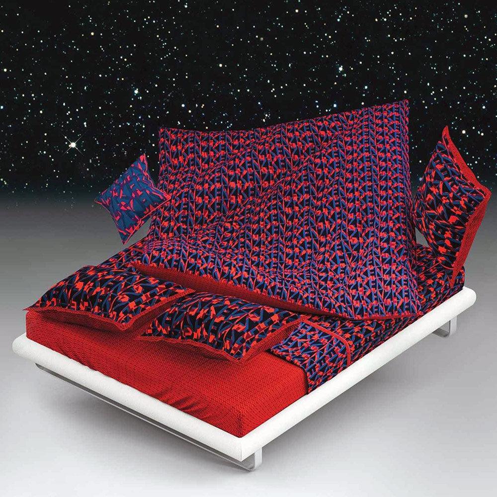 couvre lit kenzo maison Housse de couette 240x220cm   Logo 3D rubis par Kenzo Maison   La  couvre lit kenzo maison