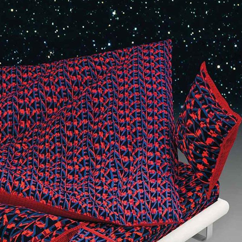 drap housse 140x200cm logo 3d rubis par kenzo maison la boutique novalinge. Black Bedroom Furniture Sets. Home Design Ideas