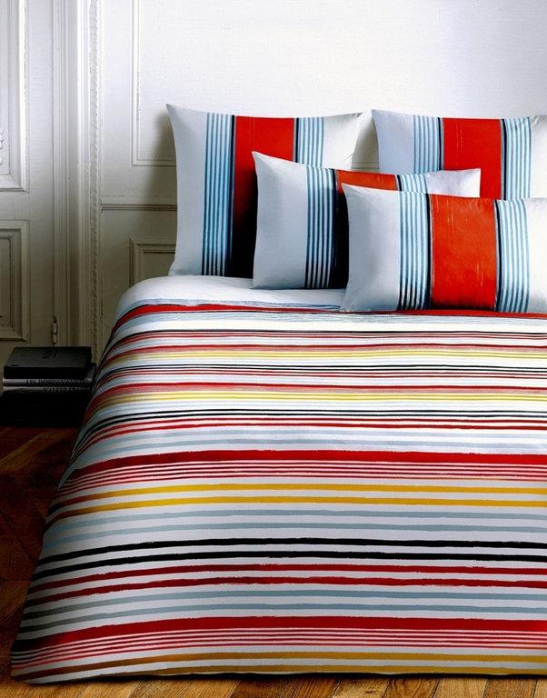 taie d 39 oreiller 50x75cm rue de seine lipstick red par sonia rykiel maison la boutique novalinge. Black Bedroom Furniture Sets. Home Design Ideas