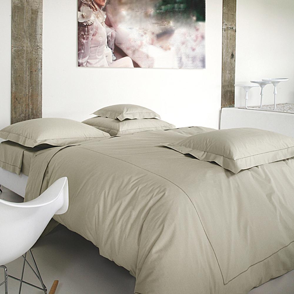 housse de couette 140x200cm marquise chanvre par blanc des vosges la boutique novalinge. Black Bedroom Furniture Sets. Home Design Ideas