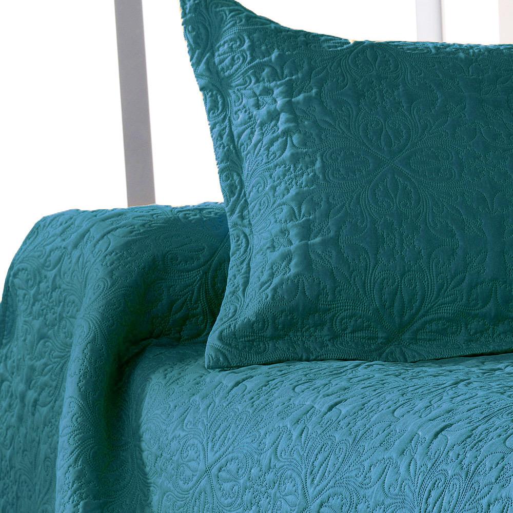 ceylan bleu canard 47 par linder jet de lit 180x240cm 1 taie la boutique novalinge. Black Bedroom Furniture Sets. Home Design Ideas