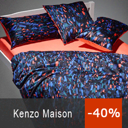 kenzo drap housse de couette table de lit. Black Bedroom Furniture Sets. Home Design Ideas