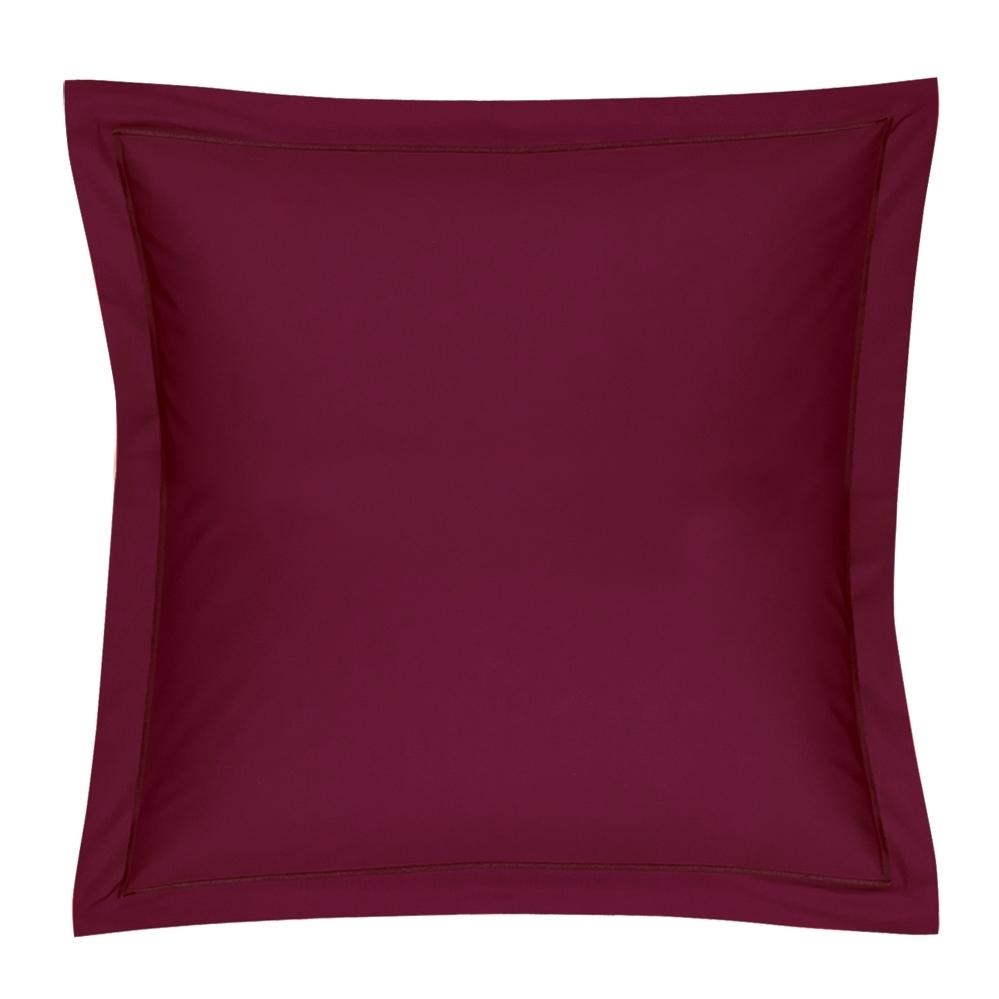 drap housse 90x200cm coton uni bordeaux blanc des vosges. Black Bedroom Furniture Sets. Home Design Ideas