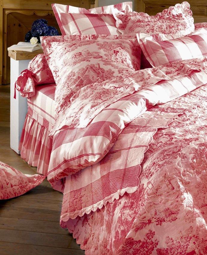 aude de balmy linge de lit Drap 240x310cm   Pastorale rouge par Aude de Balmy   La boutique  aude de balmy linge de lit