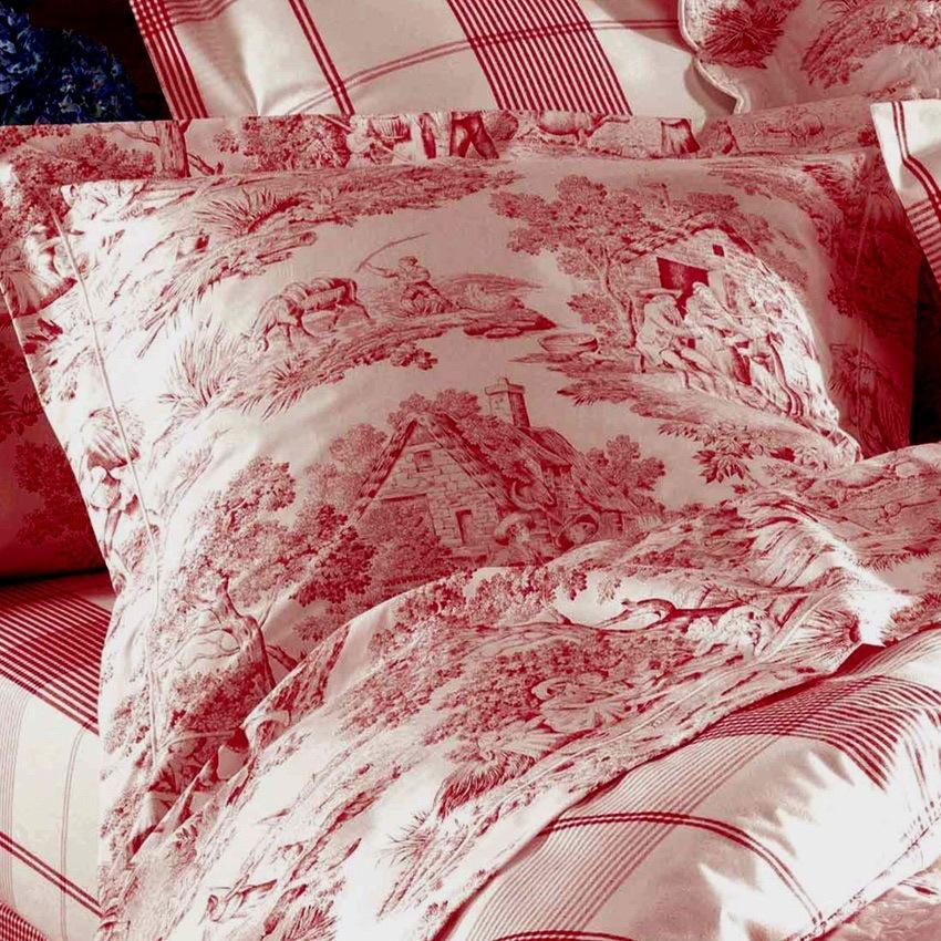 housse de couette 240x220cm pastorale rouge par aude de balmy la boutique novalinge. Black Bedroom Furniture Sets. Home Design Ideas