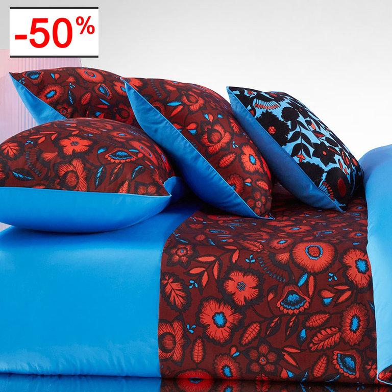 housse de couette 260x240cm estival rouge par kenzo maison la boutique novalinge. Black Bedroom Furniture Sets. Home Design Ideas