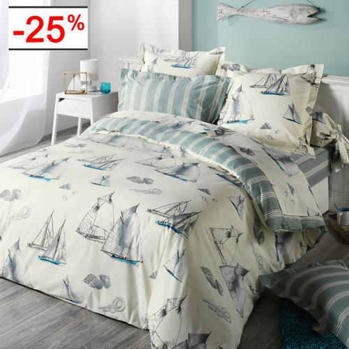 Linge de lit style marin   La boutique Nova Linge