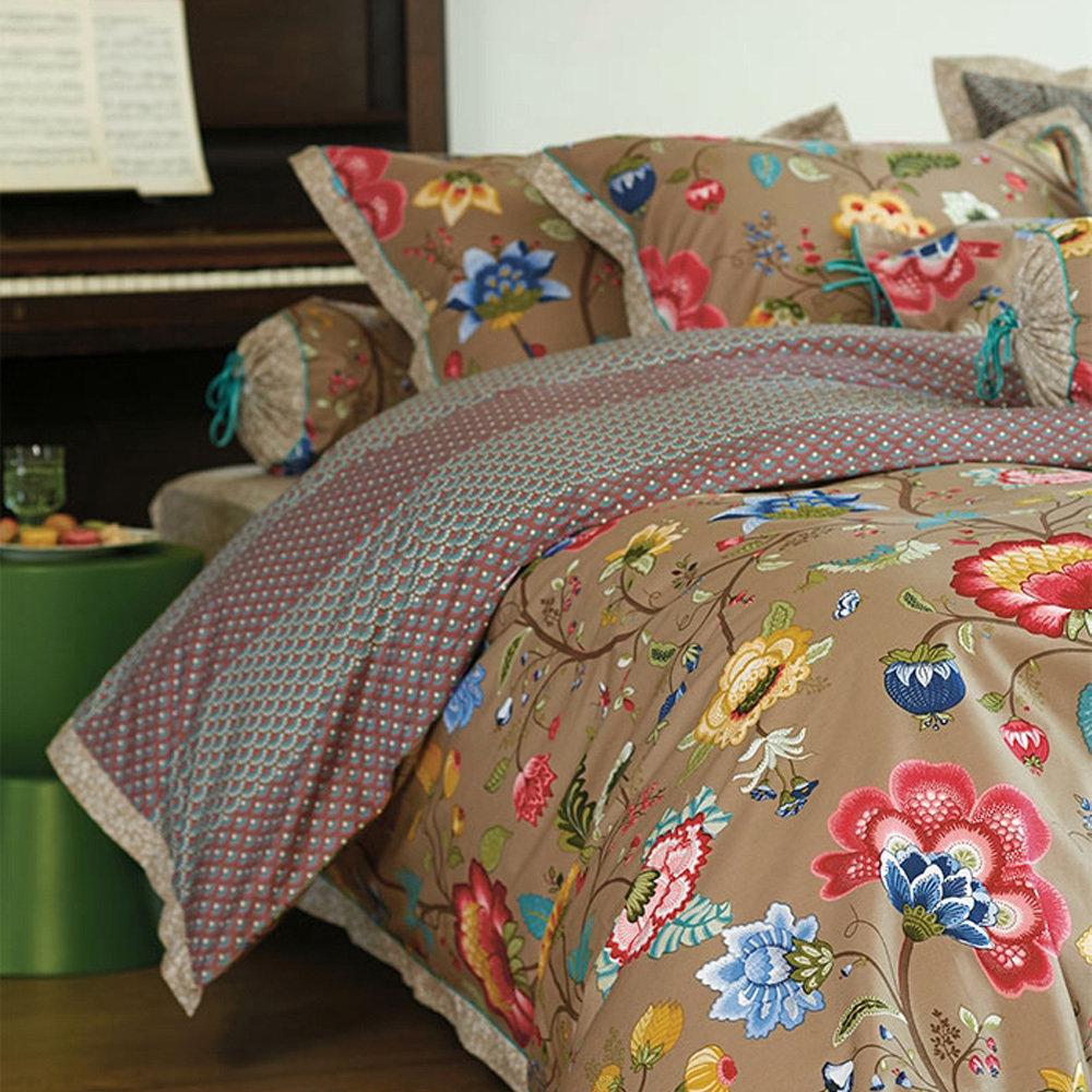 housse de couette 260x240cm floral fantasy khaki par pip studio