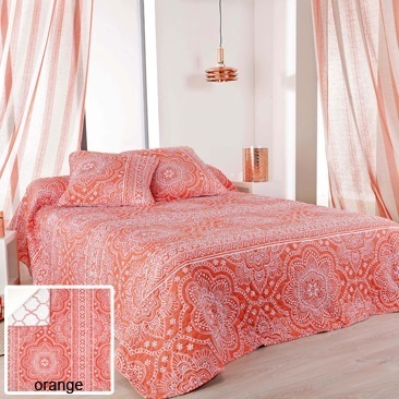 Mandala orange 38 par Linder - Plaid 150x150cm