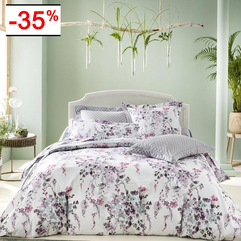 taie d 39 oreiller 65x65cm imprim e romance par anne de. Black Bedroom Furniture Sets. Home Design Ideas