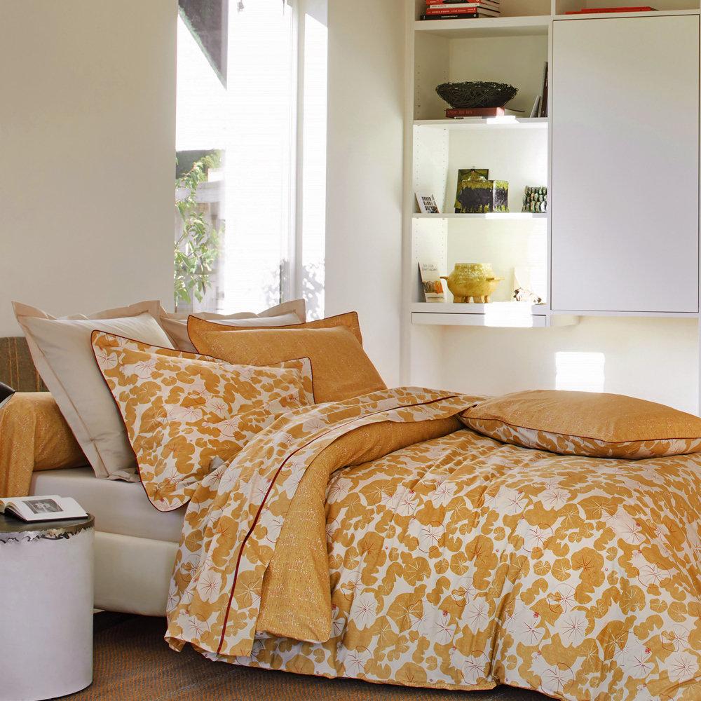 Percale 100/% Coton 80 Fils//cm/² Blanc des Vosges Camouflage Ocre taie 50 x 75 cm