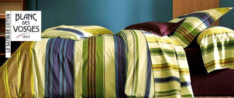 le satin fantaisie blanc des vosges la boutique nova linge. Black Bedroom Furniture Sets. Home Design Ideas