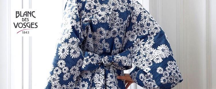 blanc des vosges kimono la boutique nova linge. Black Bedroom Furniture Sets. Home Design Ideas
