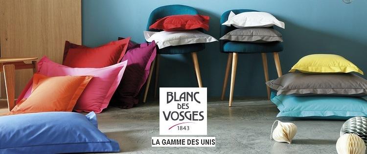 le satin uni blanc des vosges la boutique nova linge. Black Bedroom Furniture Sets. Home Design Ideas